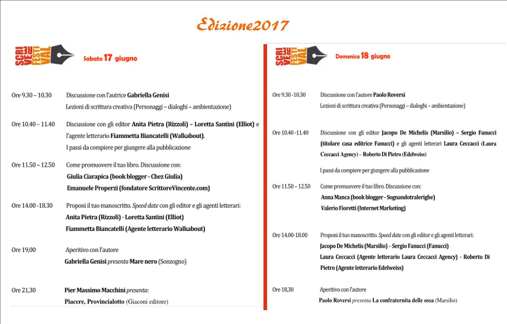 Scrivere festival Programma_2017